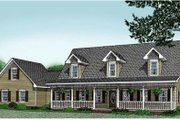 Country Style House Plan - 3 Beds 2.5 Baths 2544 Sq/Ft Plan #11-203 Exterior - Front Elevation
