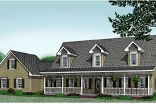 Architectural House Design - Country Exterior - Front Elevation Plan #11-203