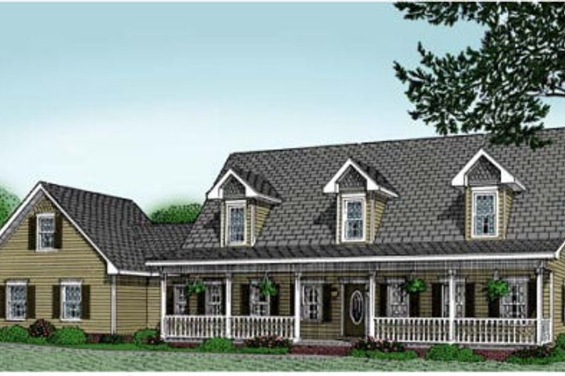 Country Exterior - Front Elevation Plan #11-203
