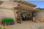 Contemporary Style House Plan - 1 Beds 1 Baths 480 Sq/Ft Plan #484-6 Exterior - Covered Porch