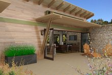 Contemporary Exterior - Covered Porch Plan #484-6