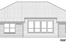 House Design - Ranch Exterior - Rear Elevation Plan #84-550