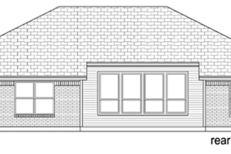 Ranch Exterior - Rear Elevation Plan #84-550 - Houseplans.com