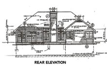 Home Plan - Traditional Exterior - Rear Elevation Plan #320-359