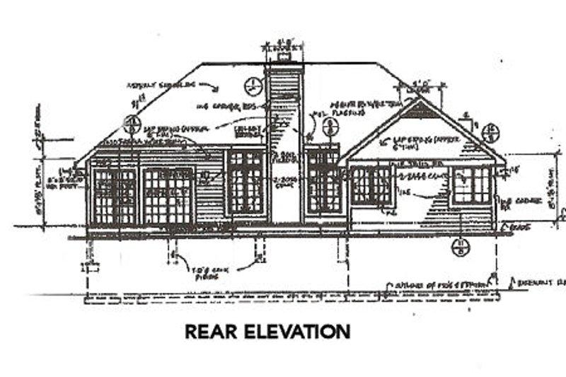 Traditional Exterior - Rear Elevation Plan #320-359 - Houseplans.com