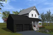 Farmhouse Style House Plan - 2 Beds 2 Baths 1200 Sq/Ft Plan #933-8 Exterior - Other Elevation