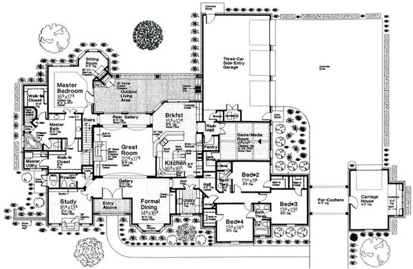 European Floor Plan - Main Floor Plan Plan #310-666