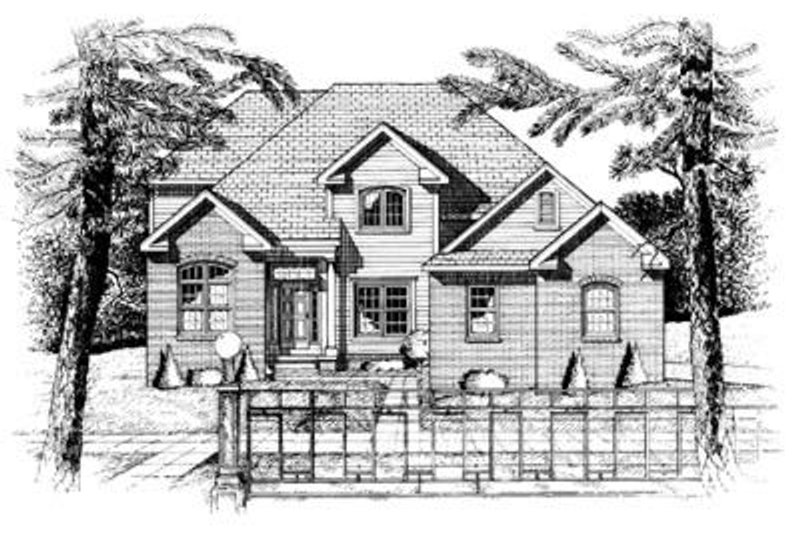 Traditional Exterior - Front Elevation Plan #20-917 - Houseplans.com