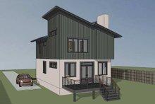 House Plan Design - Modern Exterior - Rear Elevation Plan #79-294