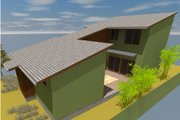 Modern Style House Plan - 3 Beds 2.5 Baths 1693 Sq/Ft Plan #450-5 Exterior - Rear Elevation
