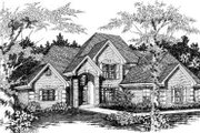 European Style House Plan - 4 Beds 2 Baths 2786 Sq/Ft Plan #329-117 Exterior - Front Elevation