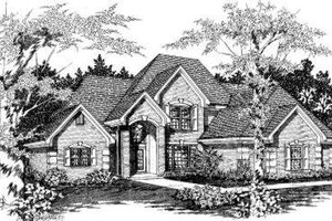 European Exterior - Front Elevation Plan #329-117