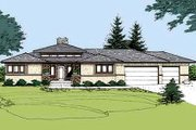 Prairie Style House Plan - 1 Beds 1.5 Baths 1855 Sq/Ft Plan #320-406 Exterior - Front Elevation