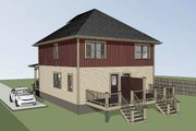 Southern Style House Plan - 4 Beds 2.5 Baths 1736 Sq/Ft Plan #79-276 Exterior - Other Elevation