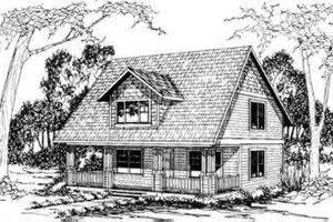 Cottage Exterior - Front Elevation Plan #124-298