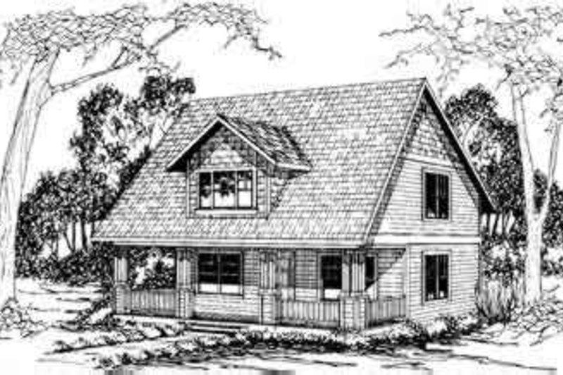 Architectural House Design - Cottage Exterior - Front Elevation Plan #124-298