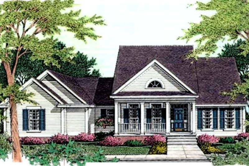 Southern Exterior - Front Elevation Plan #406-193 - Houseplans.com
