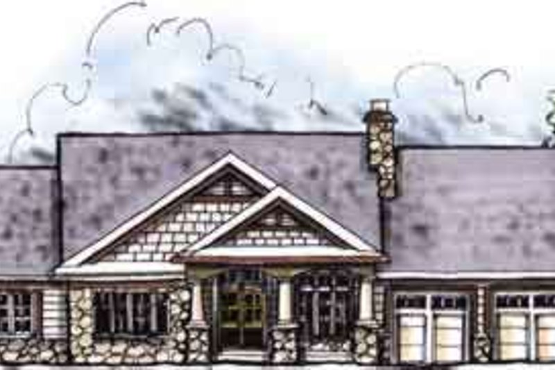 Home Plan - Traditional Exterior - Front Elevation Plan #70-643