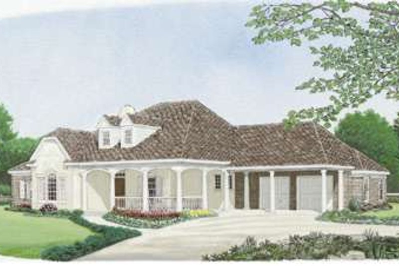 Traditional Exterior - Front Elevation Plan #410-377 - Houseplans.com
