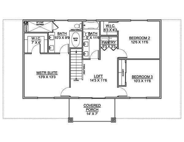 Dream House Plan - Farmhouse Floor Plan - Upper Floor Plan #1073-28