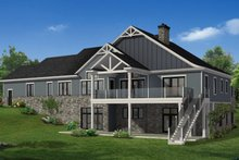 House Plan Design - Craftsman Exterior - Rear Elevation Plan #1057-27