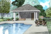 European Style House Plan - 0 Beds 1 Baths 117 Sq/Ft Plan #17-2585 Exterior - Front Elevation