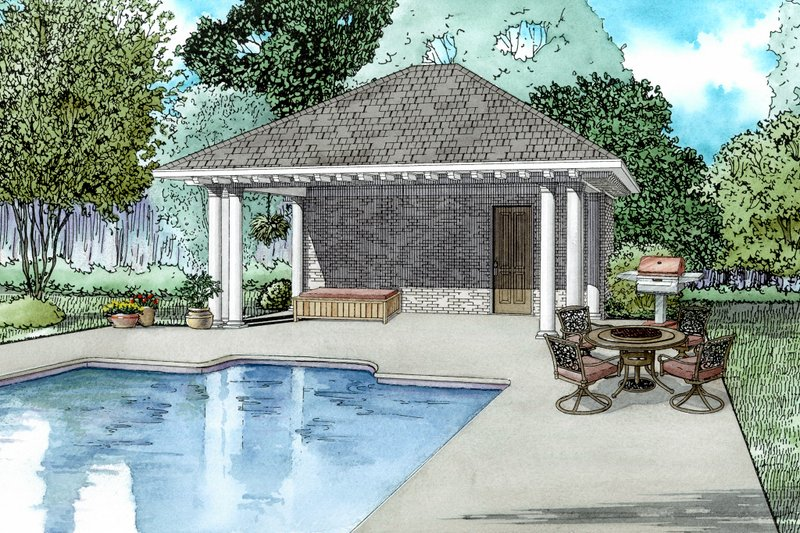 European Style House Plan - 0 Beds 1 Baths 117 Sq/Ft Plan #17-2585