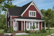 Cottage Exterior - Front Elevation Plan #23-598