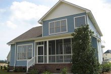 Architectural House Design - Rear View - 1950 square foot Craftsman home