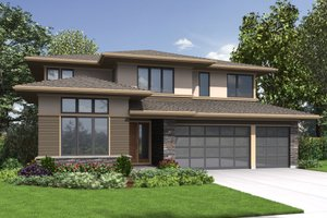 Contemporary Exterior - Front Elevation Plan #48-707