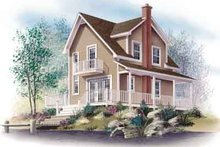 Cottage Exterior - Front Elevation Plan #23-520