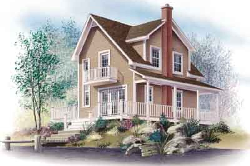 Cottage Exterior - Front Elevation Plan #23-520