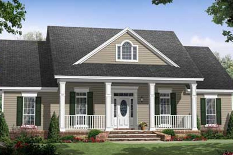 Southern Exterior - Front Elevation Plan #21-253