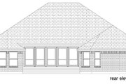 Traditional Style House Plan - 3 Beds 2.5 Baths 2300 Sq/Ft Plan #84-605 Exterior - Rear Elevation