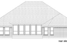 Home Plan - Traditional Exterior - Rear Elevation Plan #84-605