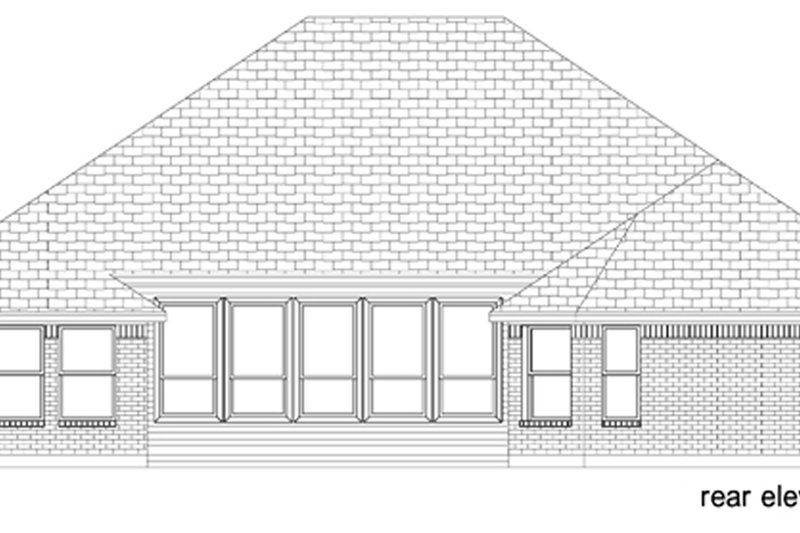 Traditional Exterior - Rear Elevation Plan #84-605 - Houseplans.com