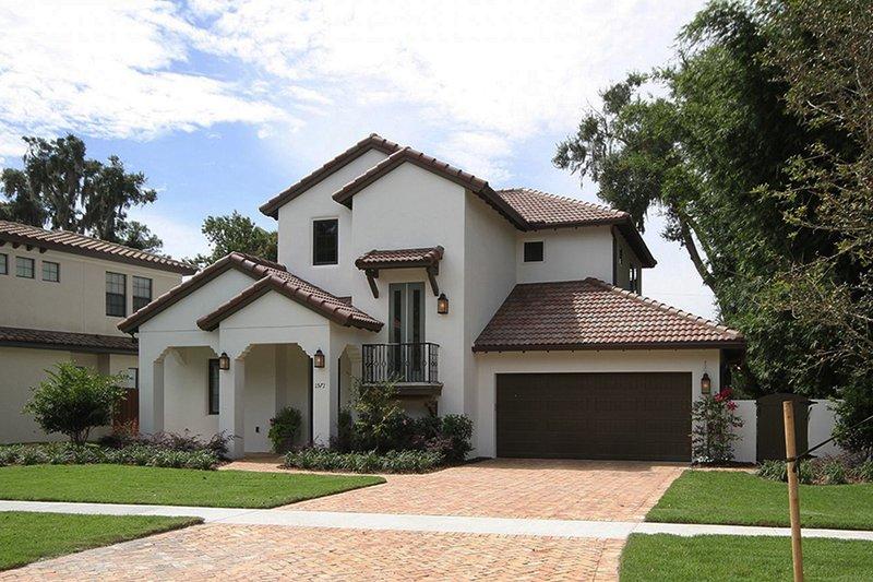 House Plan Design - Mediterranean Exterior - Front Elevation Plan #1058-147