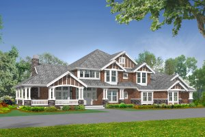 Craftsman Exterior - Front Elevation Plan #132-178