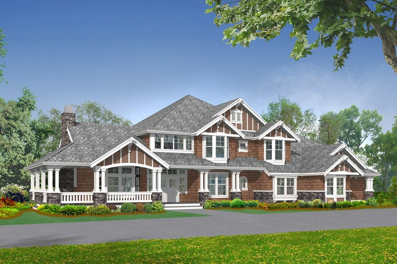 Craftsman Style House Plan - 5 Beds 4.5 Baths 5250 Sq/Ft Plan #132-178