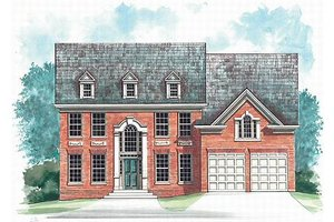 Architectural House Design - Colonial Exterior - Front Elevation Plan #119-260