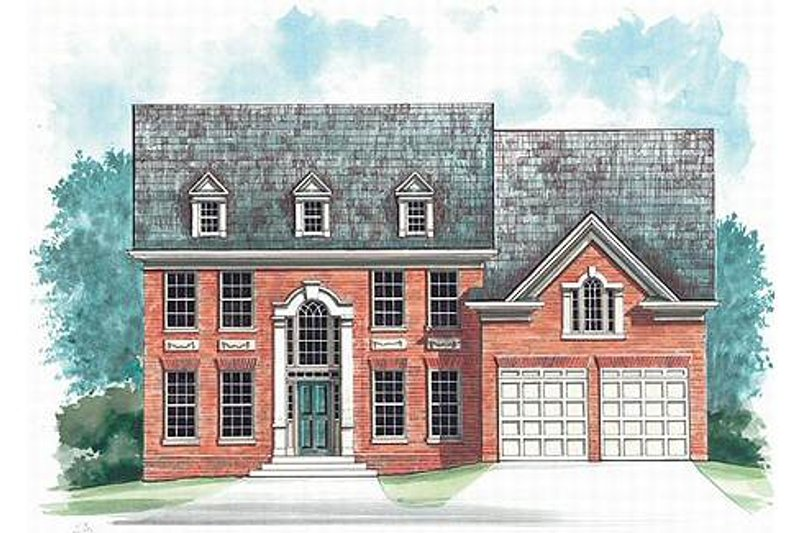 Colonial Exterior - Front Elevation Plan #119-260