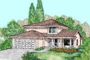 Traditional Style House Plan - 3 Beds 2.5 Baths 1608 Sq/Ft Plan #60-463 Exterior - Front Elevation