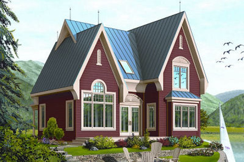 Dream House Plan - Farmhouse Exterior - Front Elevation Plan #23-852