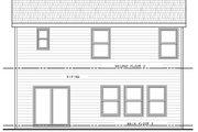 Farmhouse Style House Plan - 3 Beds 2.5 Baths 1824 Sq/Ft Plan #20-2427 Exterior - Rear Elevation
