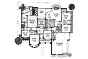 Colonial Style House Plan - 4 Beds 3.5 Baths 2690 Sq/Ft Plan #310-711 Floor Plan - Main Floor