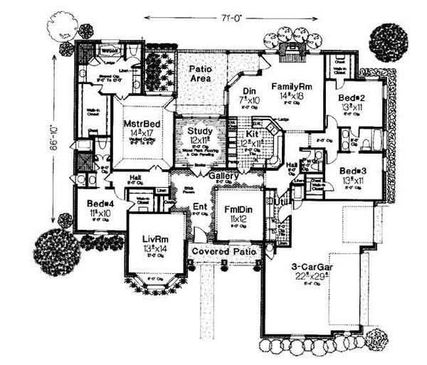 Colonial Floor Plan - Main Floor Plan #310-711