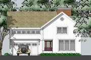 Country Style House Plan - 3 Beds 3.5 Baths 2700 Sq/Ft Plan #481-6 Exterior - Front Elevation