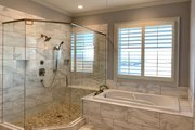 Craftsman Style House Plan - 4 Beds 4.5 Baths 5810 Sq/Ft Plan #437-96 Interior - Master Bathroom