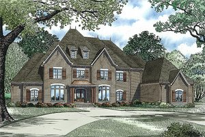 European Exterior - Front Elevation Plan #17-2427