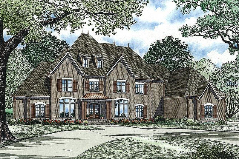 European Style House Plan - 4 Beds 4.5 Baths 6571 Sq/Ft Plan #17-2427
